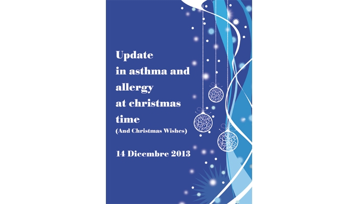UPDATE  IN ASTHMA AND AT CHRISTMAS TIME - (And Christmas Wishes)