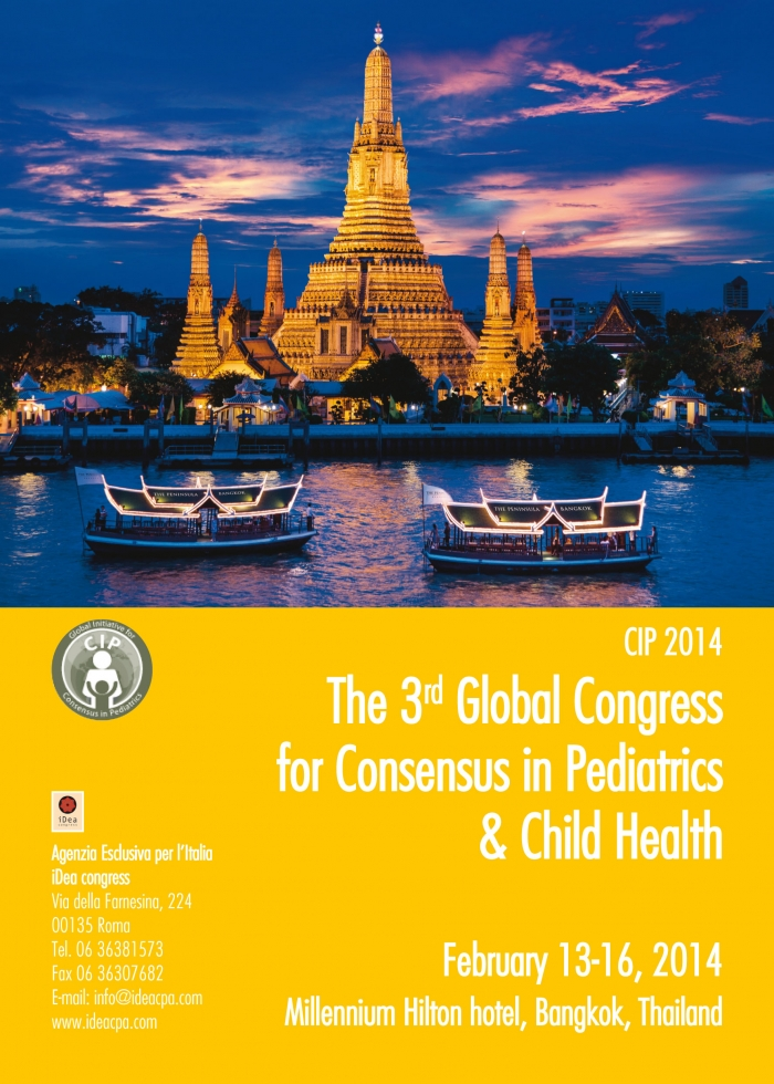 CIP 2014THE 3rd GLOBAL CONGRESS FOR CONSENSUS IN PEDIATRICS & CHILD HEALTH
